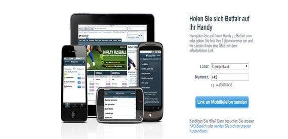 Das mobile Angebot von Betfair ist vorbildlich.