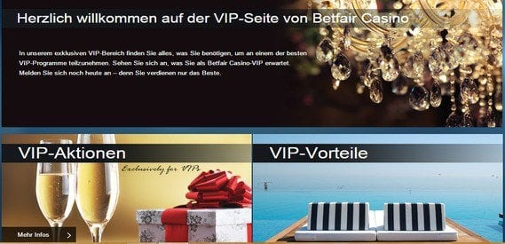 Betfair bietet ein attraktives VIP Programm für seine Bestandskunden an.