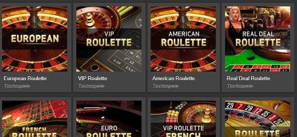 Das Roulette-Tisch-Angebot auf betvictor.com