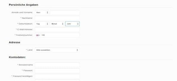 Die Anmeldung bei BetVictor ist schnell und einfach gestaltet.