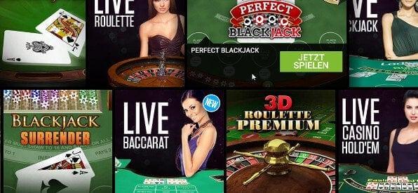 Auswahl an Blackjack-Spielen für den Ladbrokes Blackjack Rollover