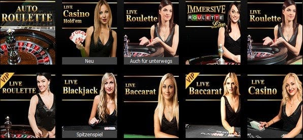 Das Live_Casino bietet echte Casino-Atmosphäre.