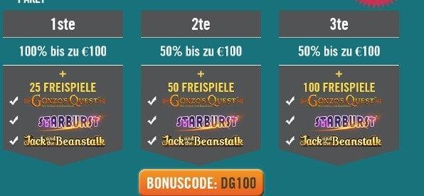 Willkommensbonus des DrückGlück Casino