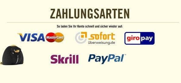 Zahlungsmethoden-Übersicht im Online-Casino von DrückGlück