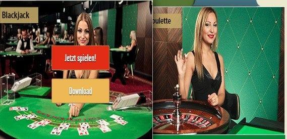 Das Drückglück Live-Casino