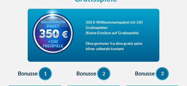 Das Willkommenspaket von EU Casino