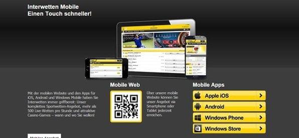 Auch mobil ist das Interwetten Casino gut aufgestellt.