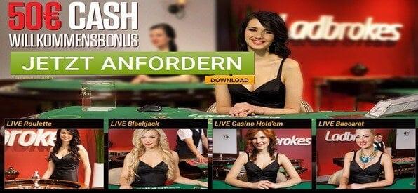 Das Ladbrokes Live_Casino bietet spannende Casino-Atmosphäre.