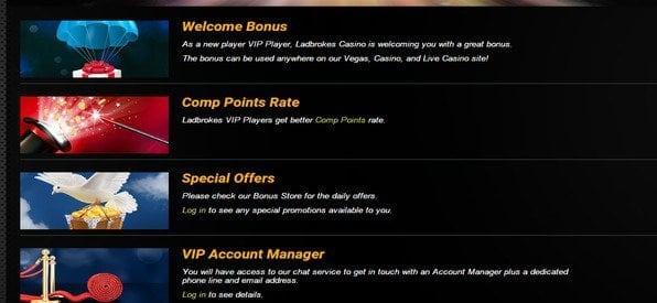 Auch Bestandskunden können an Ladbrokes Casino Promotion-Aktionen teilnehmen.