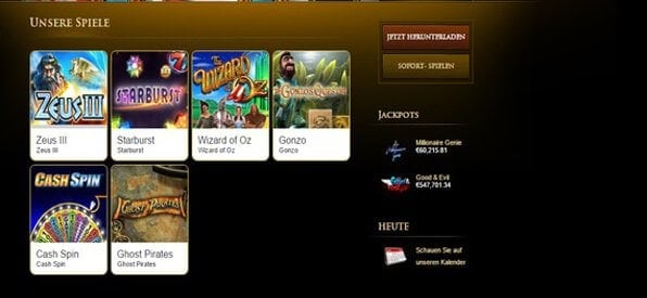 Freunde von modernen Spielen und Klassikern kommen im Mega Casino auf ihre Kosten.