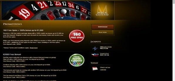 Der Mega Casino-Bonus ist sehr attraktiv.