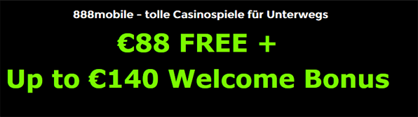 Testsieger im mobilen Casino Bonus Review: 888Casino