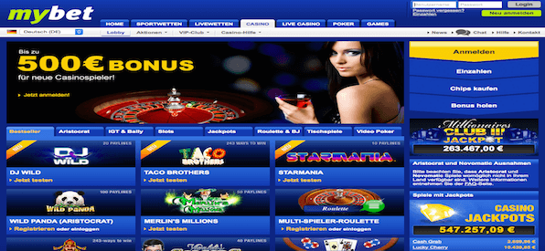 Startseite mybet Casino