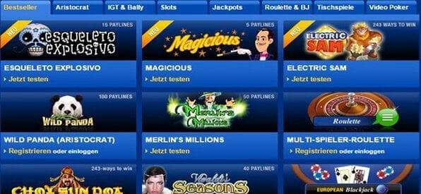 Mybet bietet über 75 Casinospiele an.