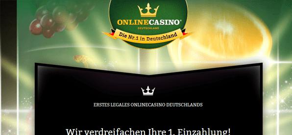 Neukundenbonus von onlinecasino.de