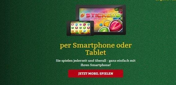 Das Spieleangebot von Onlinecasino.de ist auch mobil verfügbar.