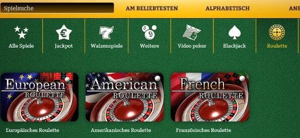 Roulette-Tische von OnlineCasino.de