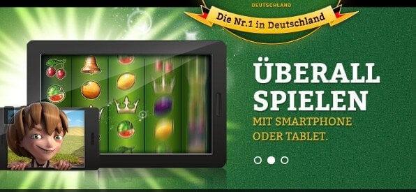 Mobile App von OnlineCasino.de