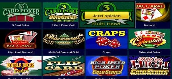 Roxy Palace bietet nach eigenen Angaben über 500 Casinospiele an.