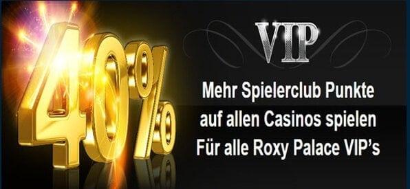 Das VIP Programm bei Roxy Music enthält viele Highlights.