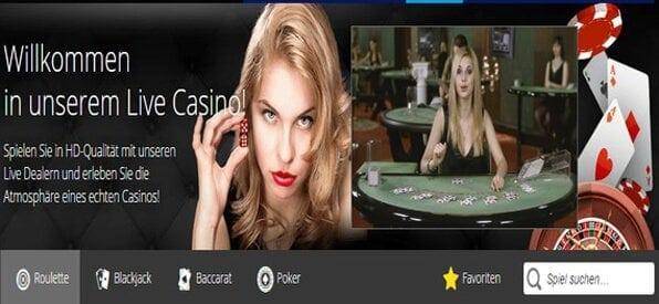 Das Live-Casino glänzt in HD-Qualität.