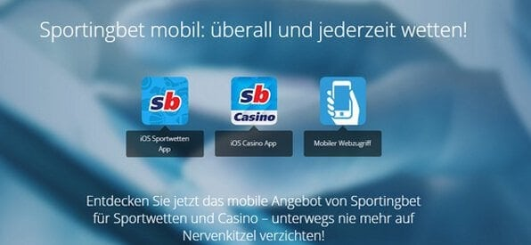 Sportingbet ist auch mobil immer dabei.