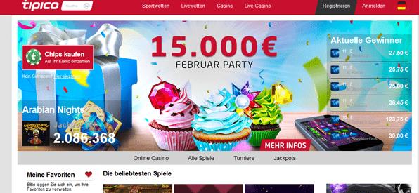 Eine vielseitige Auswahl an Casino Games bei Tipico