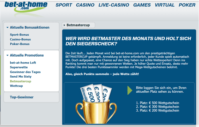 Bet-at-home Wettgutschein