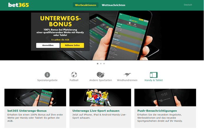 bet365 Handy & Tablet