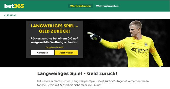 "bet365 ""Geld-zurück""-Bonus"