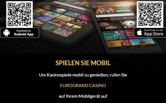 Eurogrand Casino mobil App