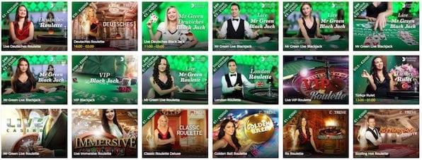 Das Live-Casino wird von echten Live-Dealern verwaltet.