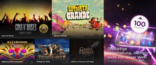 Sowohl moderne Spiele als auch Klassiker befinden sich im Spieleportfolio.