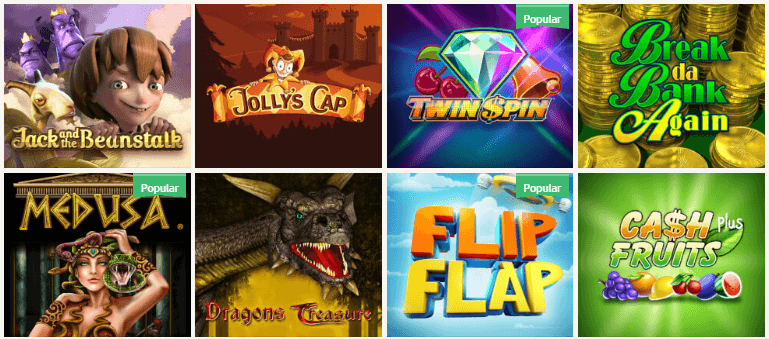 Die Auswahl an Online Casino Spielen ist überwältigend