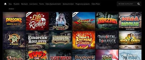 Betway Casino Spieleangebot