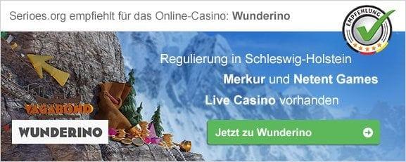 Empfelung Online Casino Wunderino