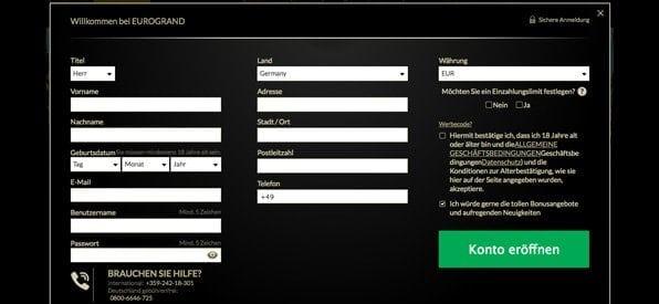 Eurogrand_Registrierung