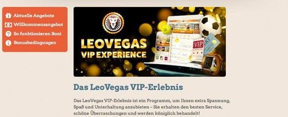 Leo Vegas Casino VIP Programm