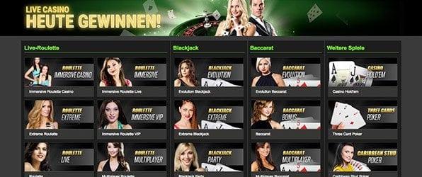 Die Netbet Casino Live-Spiele