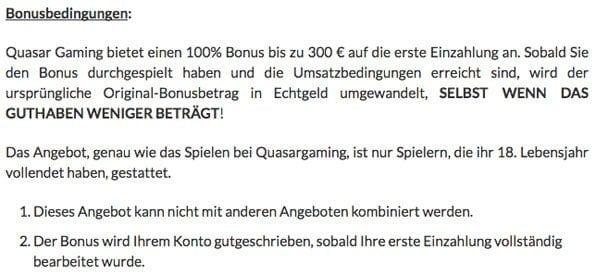 QuasarGaming_Bonusauszahlung