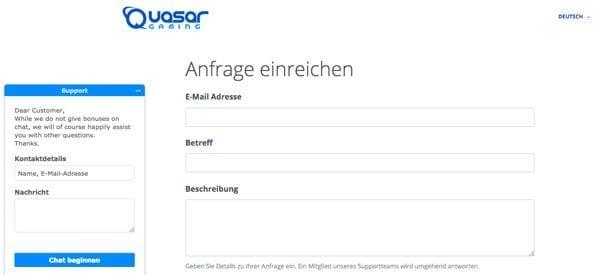 QuasarGaming_Kundensupport
