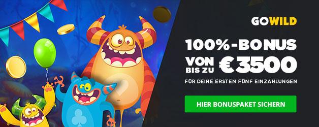 GoWild Casino Bonus 100% bis zu 3.500€