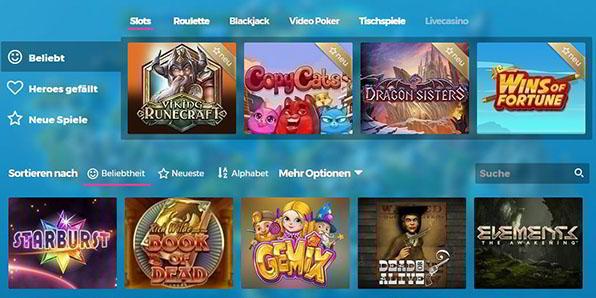 Casino Heroes Angebote