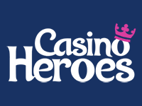 Das Casino Heroes Logo im Format 200x150