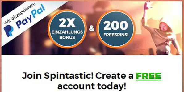 Spintastic Promo Code