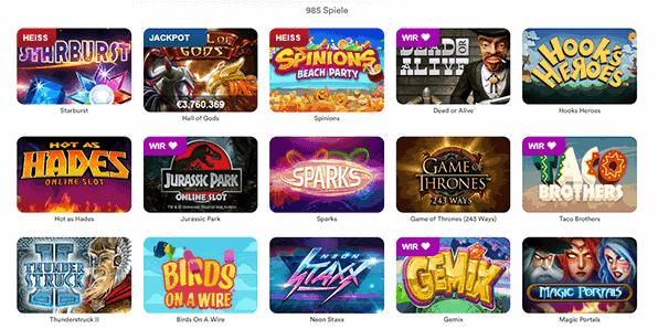 Instacasino Spiele Angebot