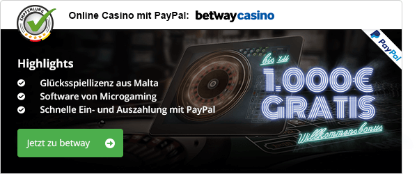 PayPal Casinos in Österreich betway Casino