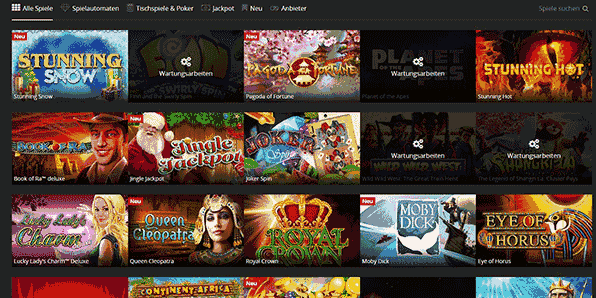 Energy Casino Spiele Angebot