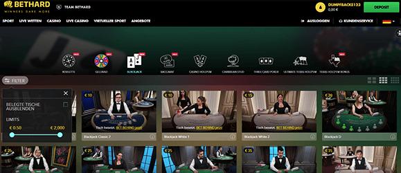 Bethard Casino Livespiele