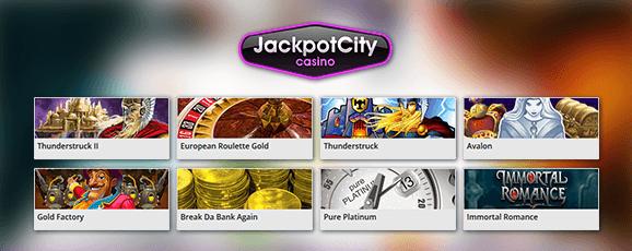 JackpotCity Casino Spiele